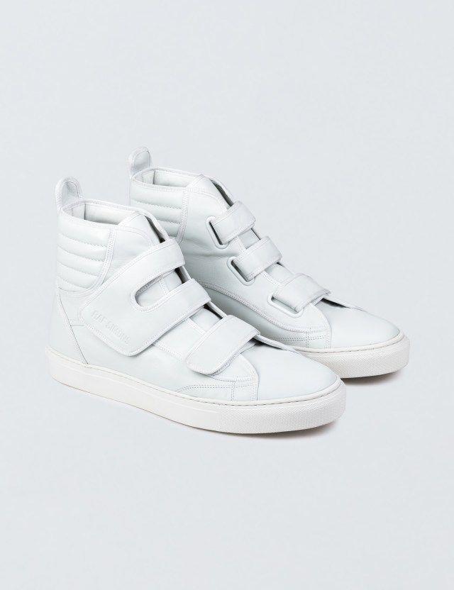 ebb1c31e4a96 Raf Simons High Top Velcro Sneaker