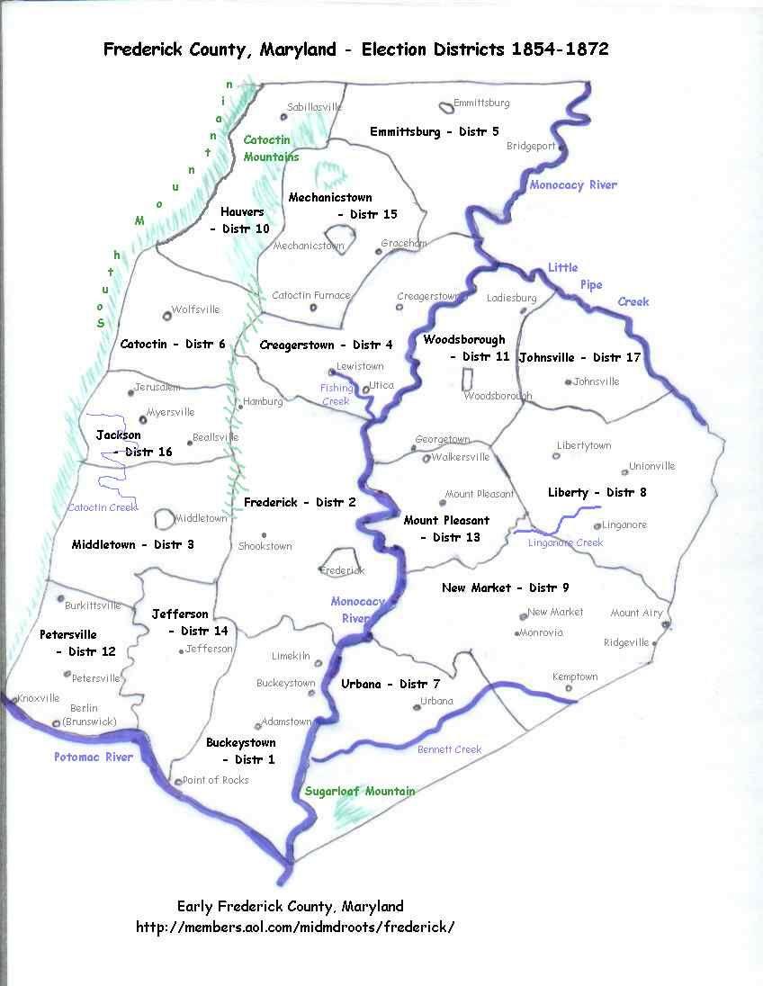RoadMapFrederickCountyMaryland Road Map Frederick County
