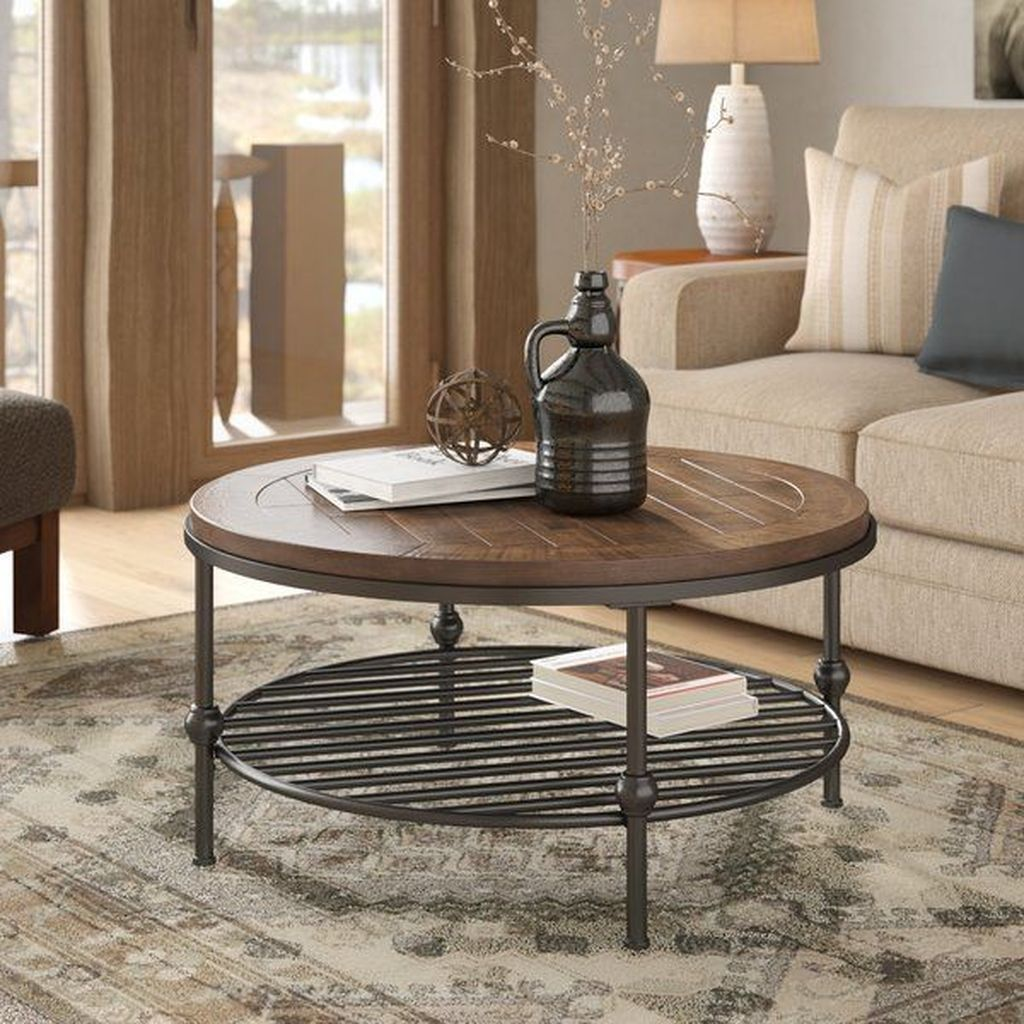 42 Awesome Wooden Coffee Table Design Ideas Homyhomee Coffee Table Farmhouse Wooden Coffee Table Designs Coffee Table [ 1024 x 1024 Pixel ]