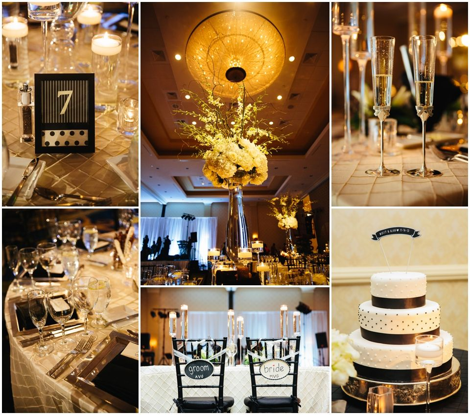 Dani Leigh Photography - black and white wedding decor