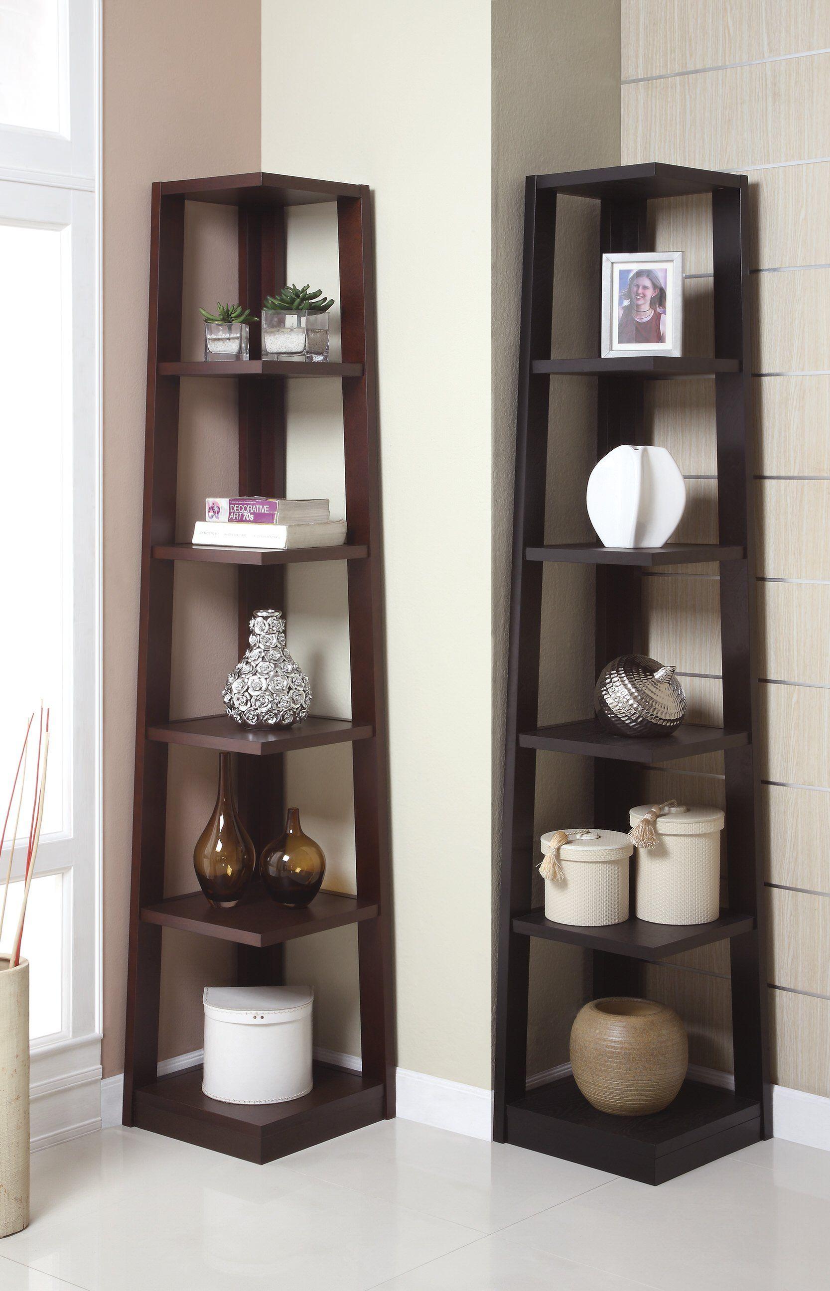 F4613 Walnut Book Shelf By Poundex Dengan Gambar Perabot Rumah Dekorasi Rumah Buatan Sendiri Interior #tall #shelves #for #living #room