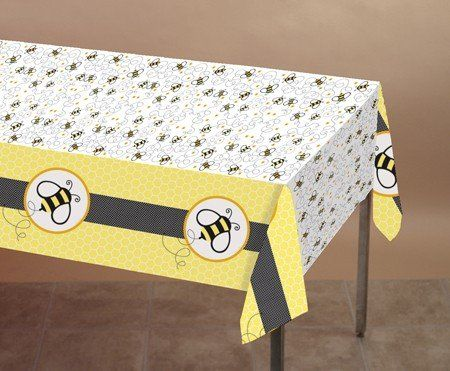 Bee Theme Party Printed Plastic Tablecover 1 Ct 6 08 Scrapbook