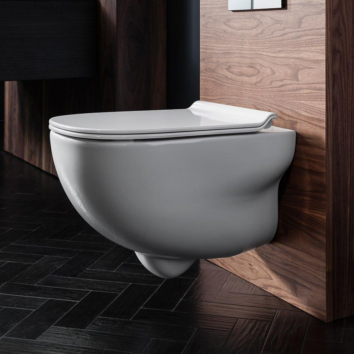 Wall Hung Toilet With Soft Lid Closing With Images Wall Hung