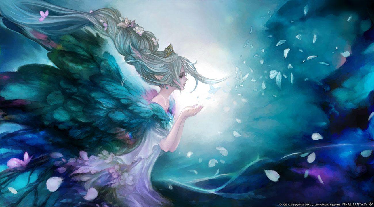 Titania Primal art from Final Fantasy XIV: Shadowbringers
