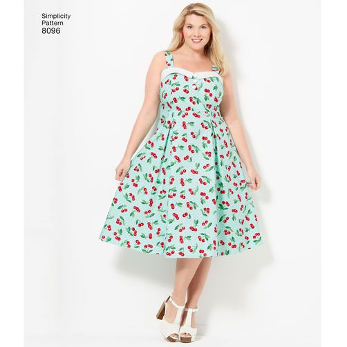 simplicity pattern 8096 amazing fit plus size dresses | sewing