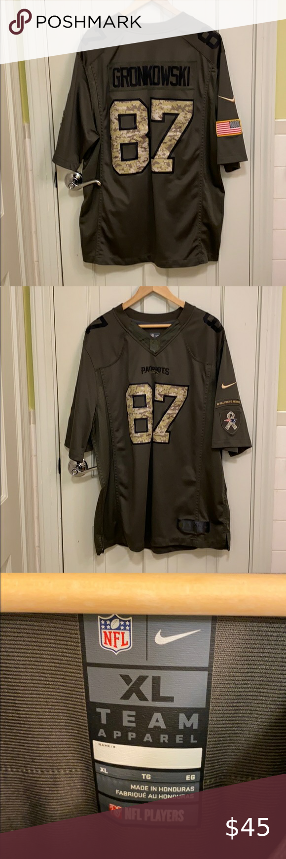 salute to service gronkowski jersey
