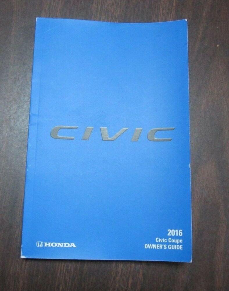 Honda Owners Manual >> 16 2016 Honda Civic Coupe Owner S Owners Manual Genuine