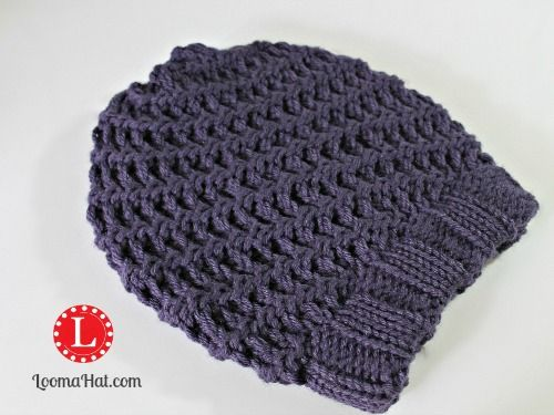 Loom Knit Spiral Hat Free Pattern With Video Tutorial Also This Site