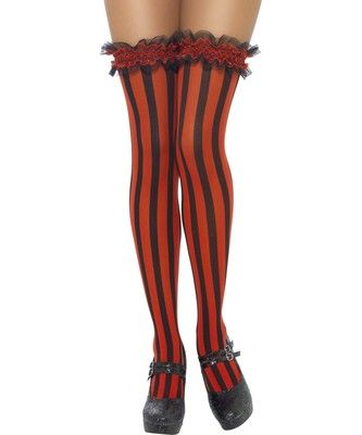 Ladies Alice Playing Card Stockings Fancy Dress Hold Ups /& Bows New by Smiffys