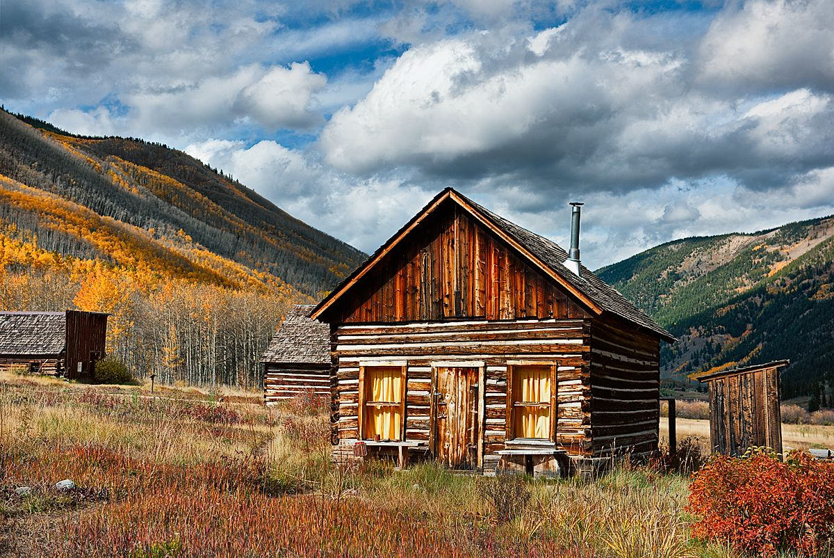 miner 39 s cabin in castle creek valley near aspen co