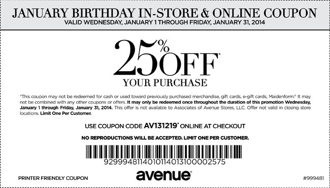 image relating to Avenue Coupon Printable identify Street Discount coupons Printable Discount codes Printable discount coupons