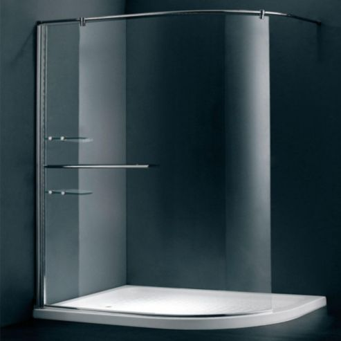 Duchy Style 1200 Mm X 900 Mm Curved Glass Walk In Wet Room