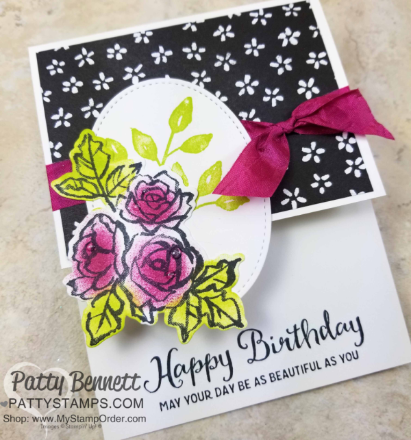 Handstamped Petal Palette Floral Cards Featuring Sponge Daubers And