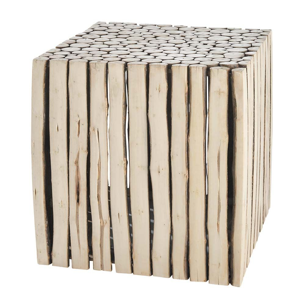 table basse rondin bois maison