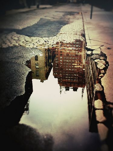 We love reflections! This photo by Tyler & Amanda Thompson (ttwice) is a fun take on perspective. Wooster Street -