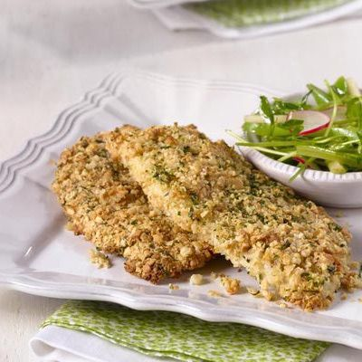 Kid-Friendly Breaded and Baked Chicken Breasts (I'm baking this super simple recipe right now, using stale bread crumbs from my favorite bread)