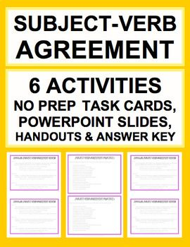 Subject verb agreement bundle answer key subject verb agreement sat grammar test prep introduce practice subject verb agreement answer keys includes platinumwayz