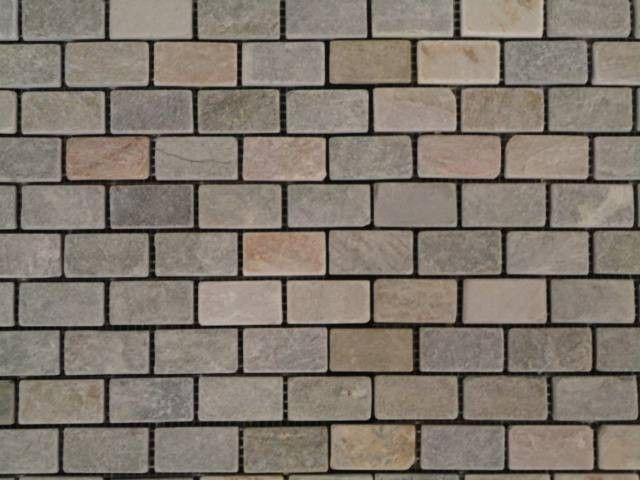 light grey natural slate mosaic castle tile - Slate Castle Ideas