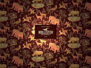 .the wallpaper from hollister stores. Cool Right ...