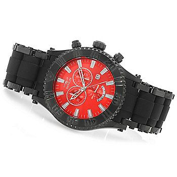 Invicta 50mm Sea Spider Quartz Chronograph Stainless Steel Polyurethane Bracelet Watch