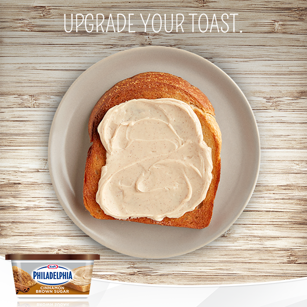 Upgrade Your Toast With Philly S Newest Product The Cinnamon Brown Sugar Yummy Breakfast Cream Cheese Spreads What To Cook