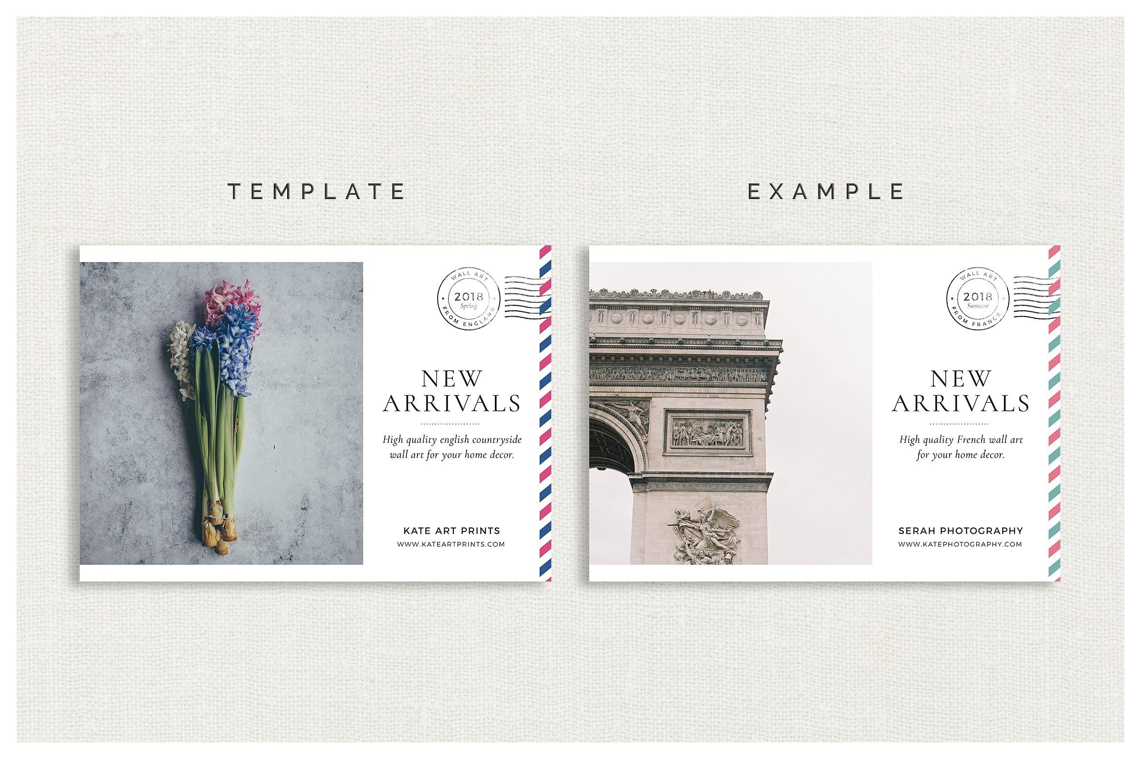 Airmail Postcard Flyers With Images