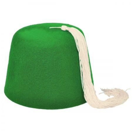 Village Hat Shop Green Fez w  White Tassel f857736a1