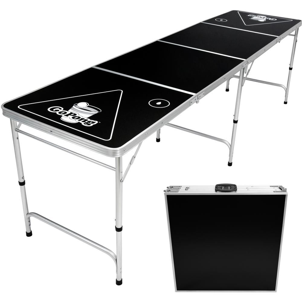 Table De Ping Pong Transformable gofloats 8 ft. foldable beer pong party game table