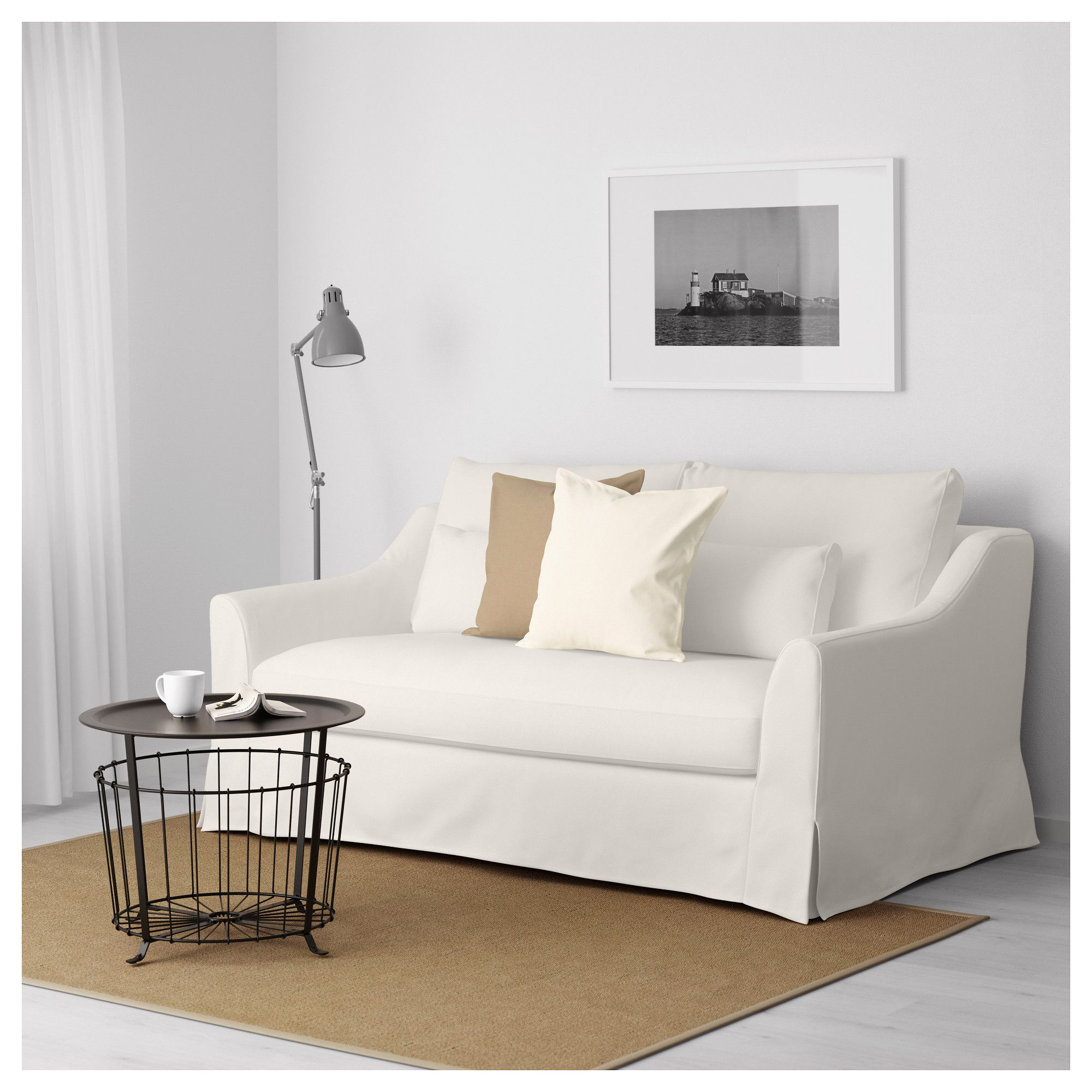 F Rl V 2 Seat Sofa Flodafors White