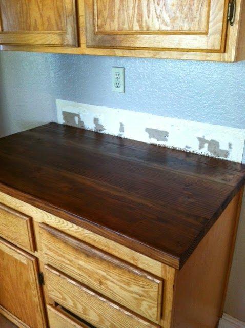 Diy Kitchen Counters Using Douglas Fir Beams From Home Depot 3