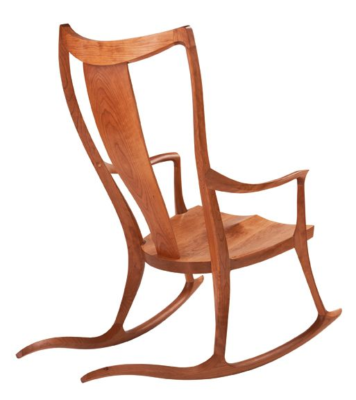 Pasadena Rocker By Thomas Moser In Cherry Rocking Chair Arts And Crafts Interiors Rocking Chair Plans