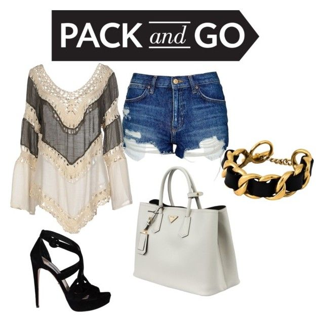 """Pack up"" by princess-of-polyvore ❤ liked on Polyvore featuring Topshop, Care Of You, Prada and Chanel"