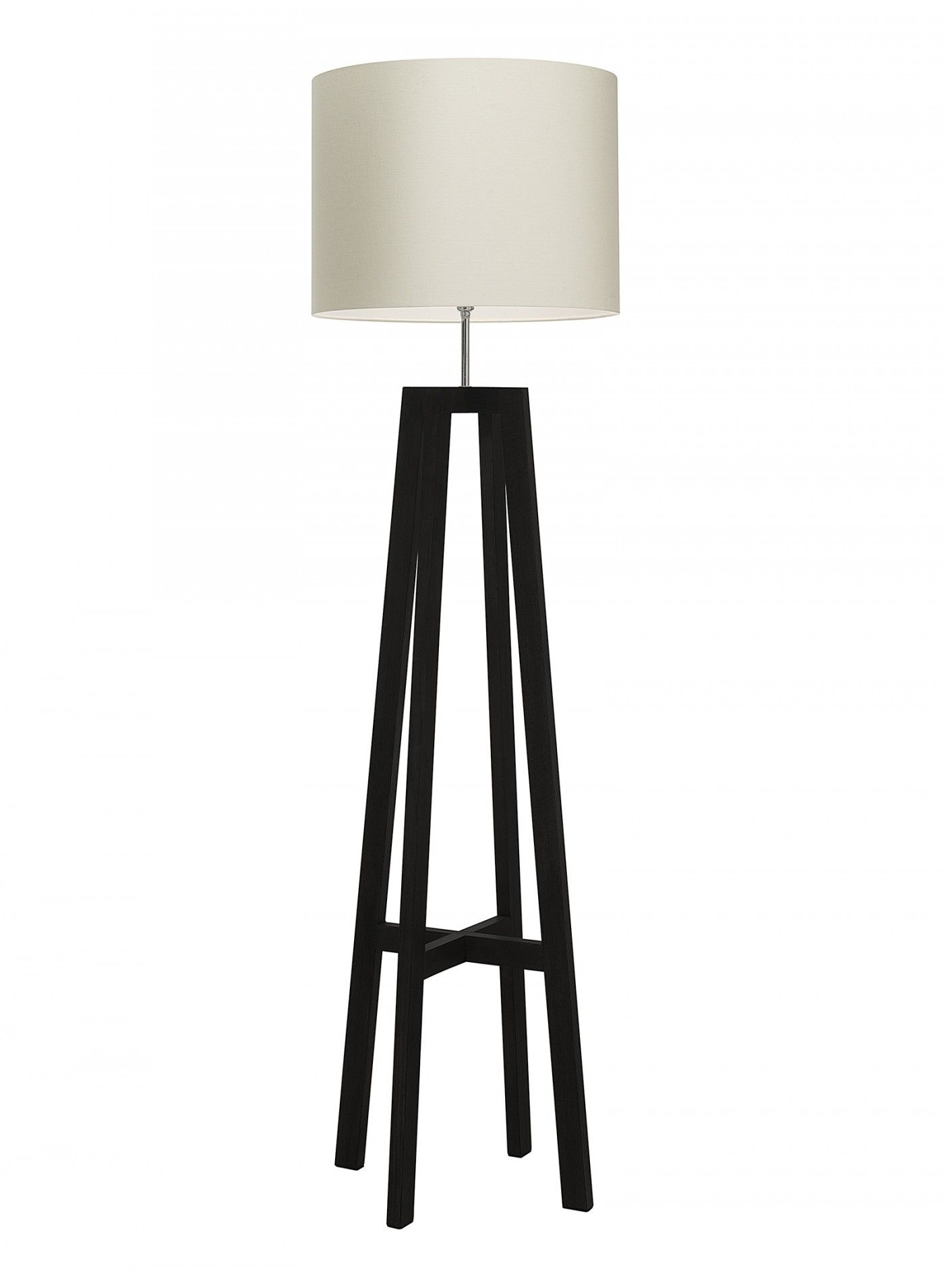 Tripod Wenge Floor Lamp Hand finished in Wenge and Antique Oak
