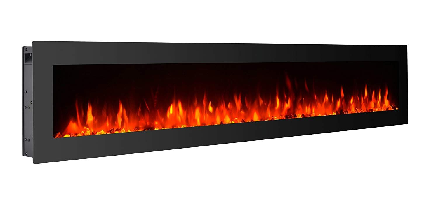 Amazon Com Gmhome 60 Electric Fireplace Wall Mounted Heater