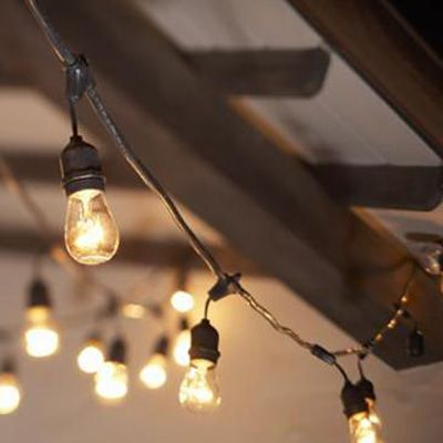 Light Bulbs On A String New 100 Ft Medium Base Suspended Socket String Lights  Black  Let's Design Decoration