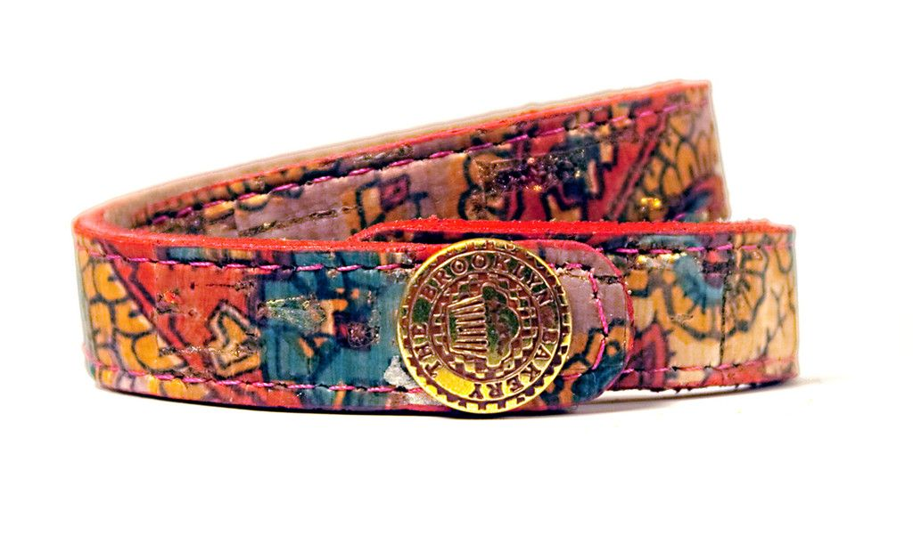 Cork pink paisley bracelet from The Brooklyn Bakery Store.