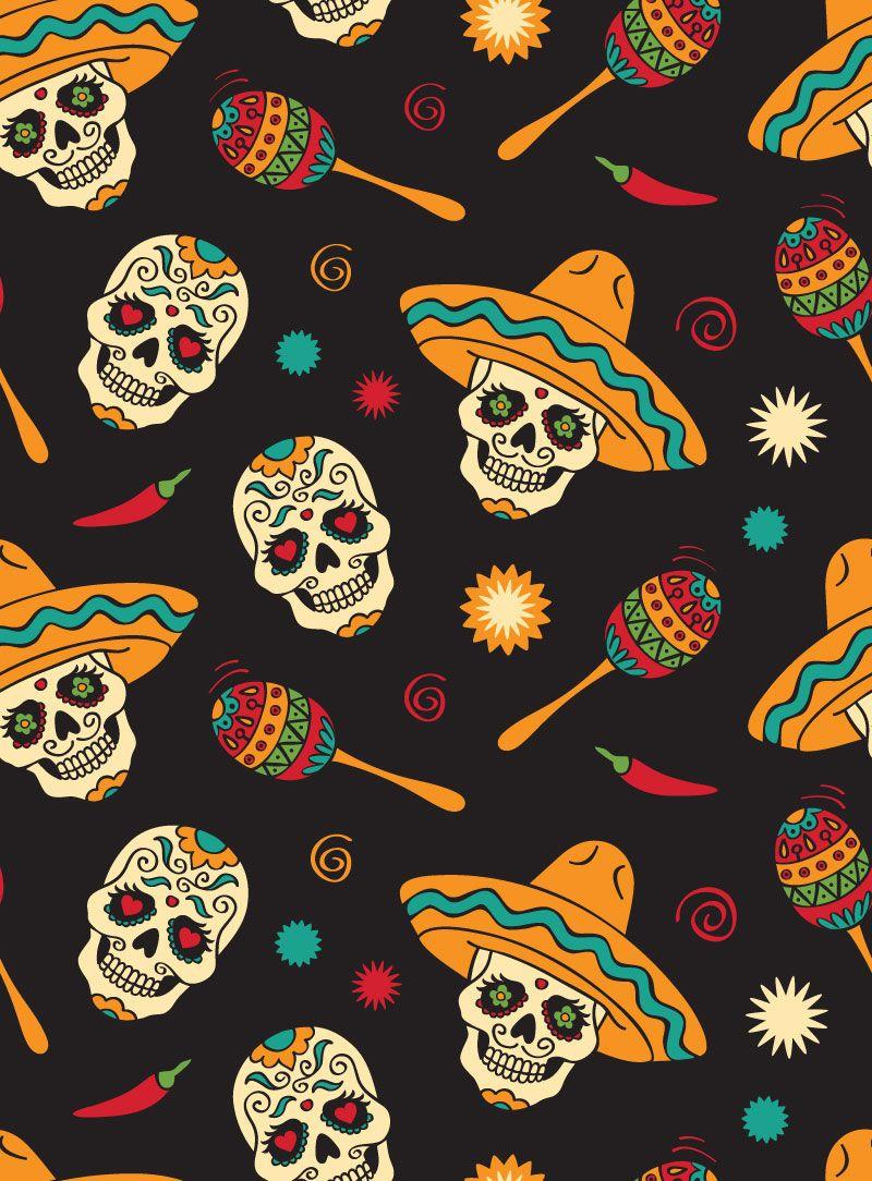 Arquivo Para Grátis Dia De Las Muertos Papel Y Fondos
