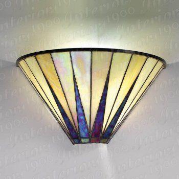 Dark Star Tiffany Art Deco Wall Washer Wall Light Art Deco Wall Lights Art Deco Lamps Art Deco Lighting