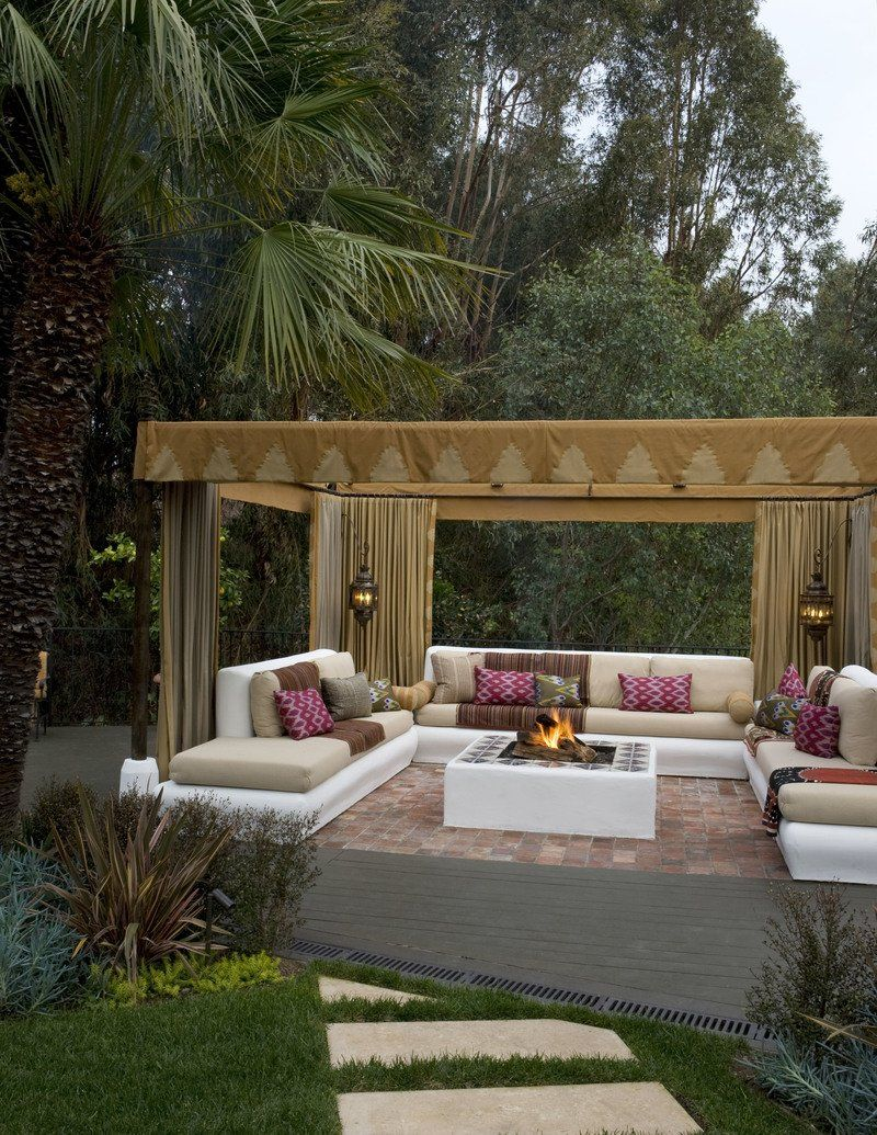 12 Mesmerizing Moroccan Style Interiors The Study Outdoor Living Space Design Outdoor Living Rooms Outdoor Living