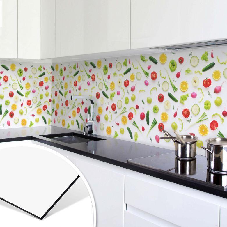Rivestimento per cucina in Alu-Dibond – Verdure 01 | wall-art.it ...