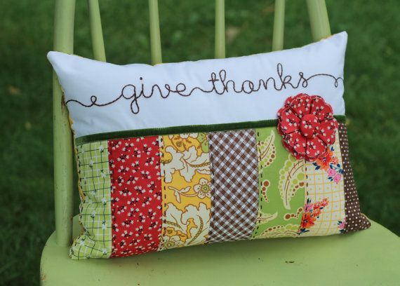 Amazon.com Items similar to Fall Pillow Cover, Thanksgiving Pillow Cover, Embroidered Pillow ...