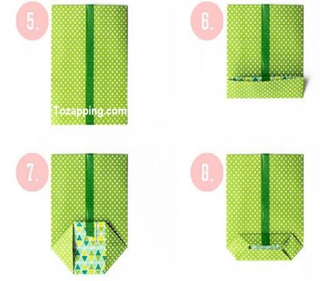 C mo hacer una bolsa de papel lugares para visitar - Hacer bolsas de papel para regalo ...