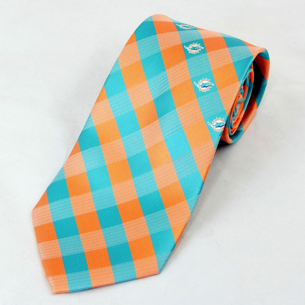 Dolphins Ties Miami Dolphins Necktie Mens Officially Licensed Football Neck Tie