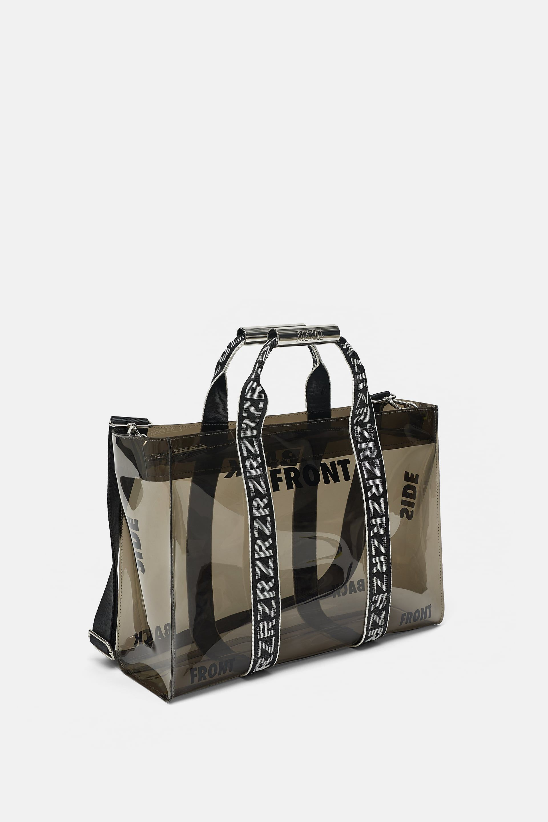Image 1 Of Vinyl Tote Bag With Slogans From Zara Purses And Bags Bags Designer