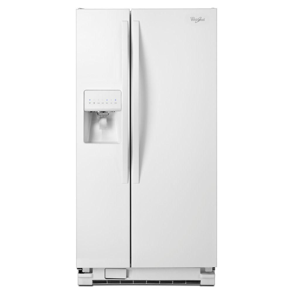 Whirlpool in w cu ft side by side refrigerator in