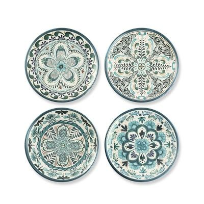 Veracruz Blue Melamine Salad Plates Set Of 4 Williamssonoma
