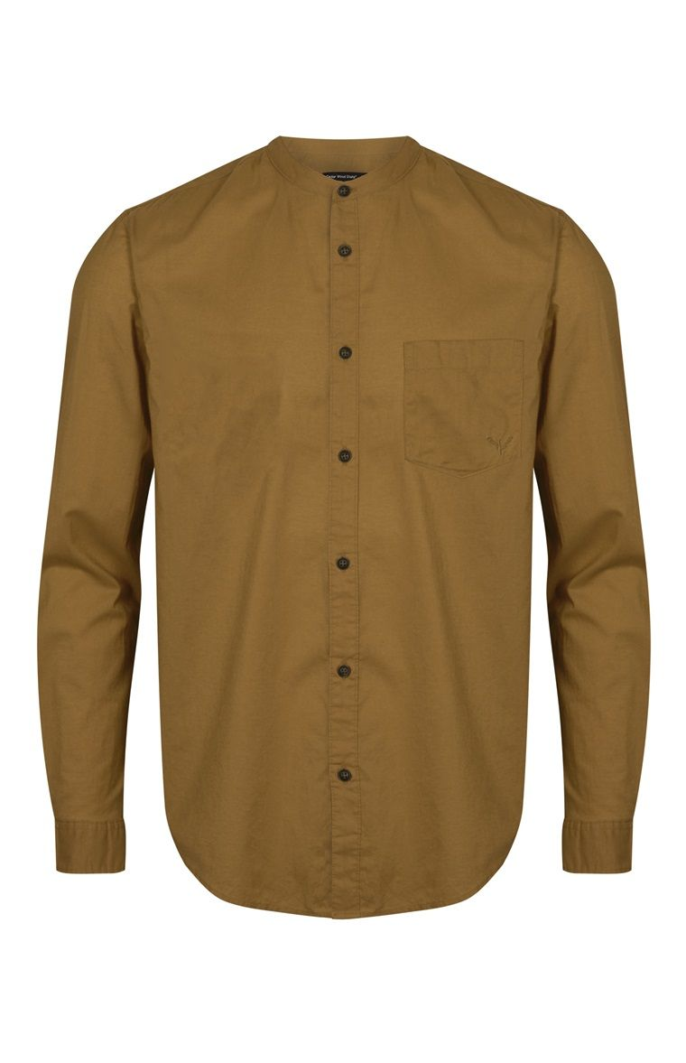 Mustard Long Sleeve Grandad Shirt Moda Pinterest