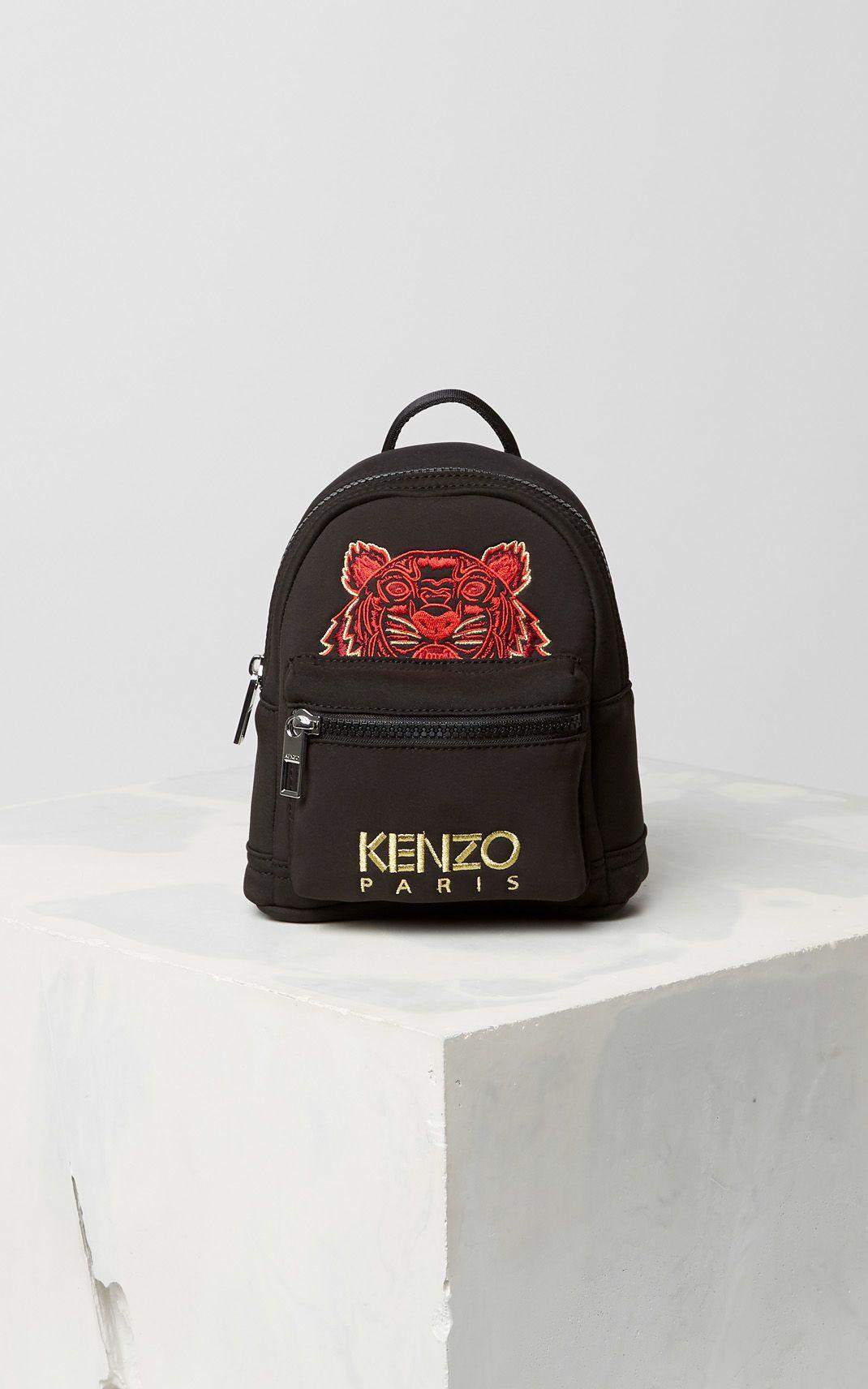 009250314 BLACK Mini Tiger Neoprene Backpack for men KENZO | wishlist ...