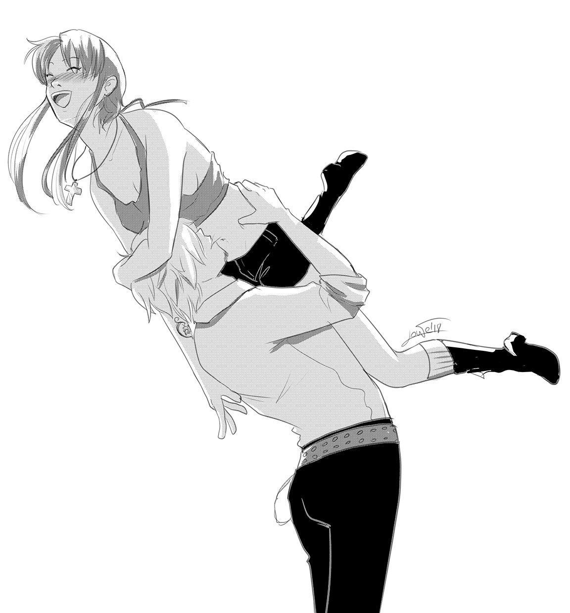 Original character created just to love Sanji-kun 💛💜  #sanji #sanjivinsmoke #lowe #lowemihawk #oc #originalcharacter #opoc #canonxoc #onepiece #onepiecefan