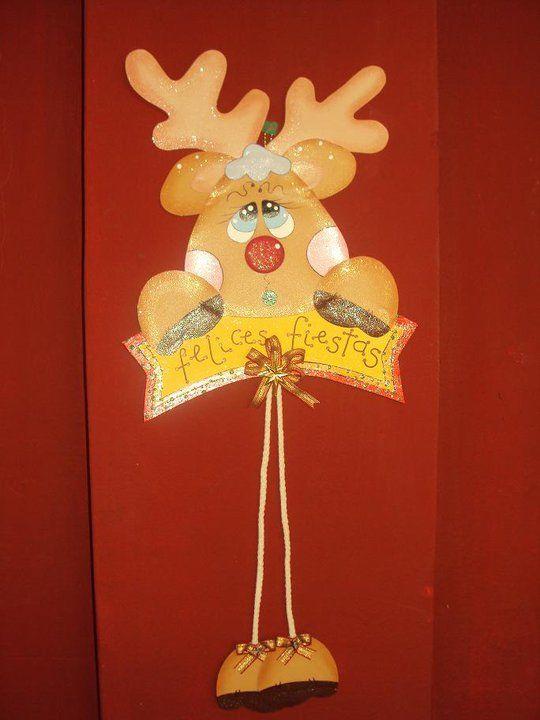 Adorno para puerta navidad en goma eva pinterest - Adorno puerta navidad ...